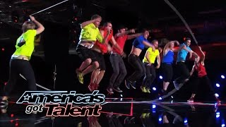 Flight Crew Jump Rope: Acrobatic Performance Wows the Judges - America's Got Talent 2014