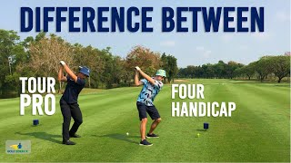 Difference between PRO and 4 HANDICAP on a new course - Small but MASSIVE