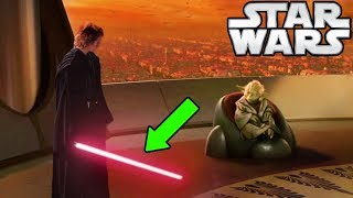 Why Anakin's Lightsaber DIDN'T Turn RED After Killing Younglings (CANON) - Star Wars Explained