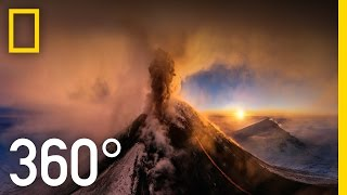 360° Kamchatka Volcano Eruption | National Geographic