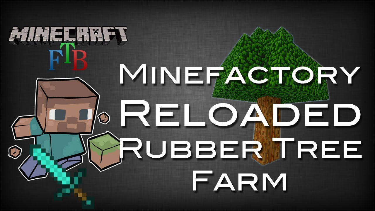 Ftb Mfr Rubber Tree Farm Tutorial Youtube