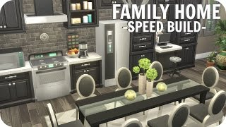 The Sims 4 // LARGE FAMILY HOME | SPEED BUILD (No CC) Realistic