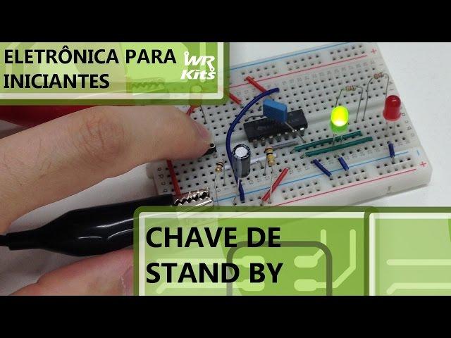 CHAVE DE STAND BY COM FLIP-FLOP | Eletrônica para Iniciantes #042