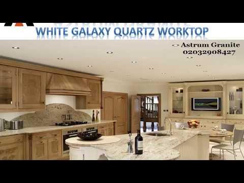 Best White Galaxy Quartz Worktop Kitchen in London - Astrum Granite