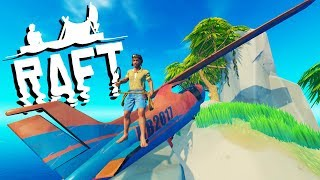 HUGE *NEW* ISLANDS and CRASHED AIRPLANE! - New Raft Update - Raft Gameplay