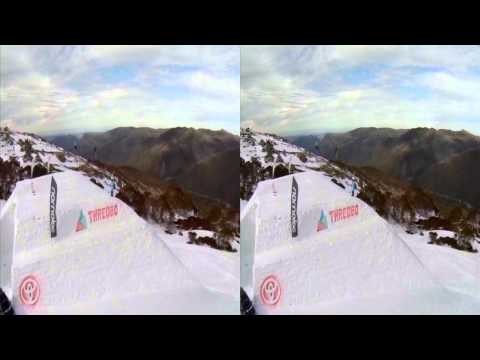 Thredbo GoPro challenge in 3D Slomo - 120fps conformed to 24fps playback