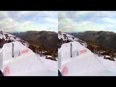 Thredbo GoPro challenge in 3D Slomo - 120fps conformed to 24fps playback