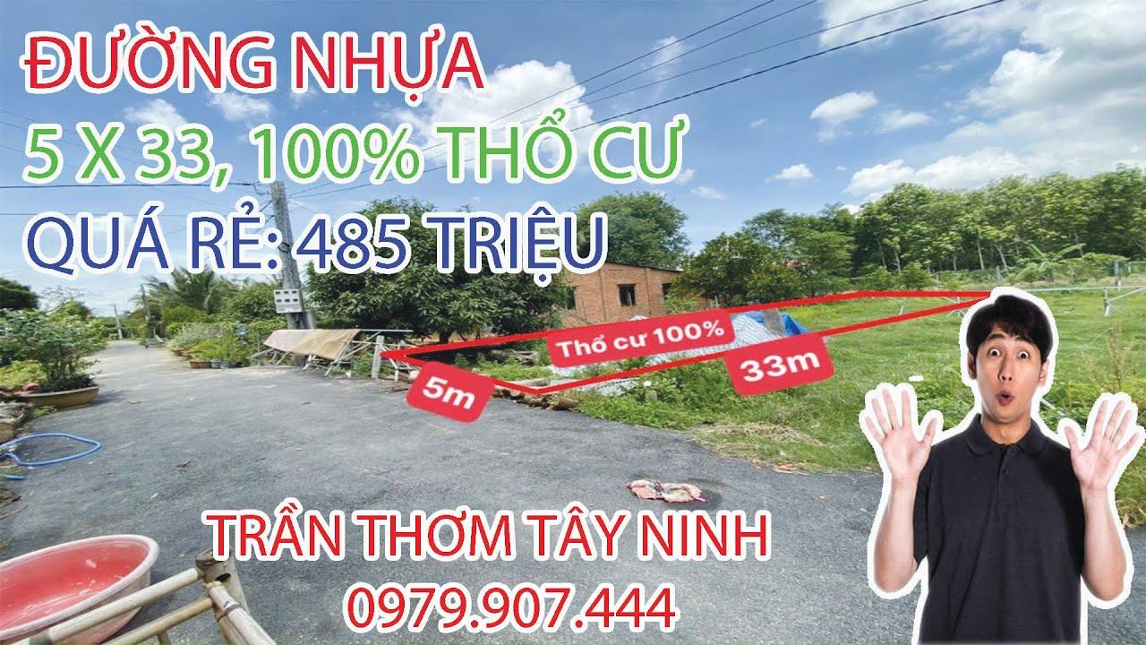 Đất mặt tiền nhựa 125m2 (5 x 25), thổ cư 100%. Thanh Phước, Gò Dầu, Tây Ninh, trong khu dân cư đông video