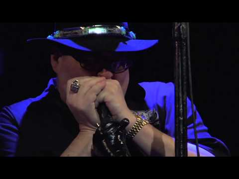 John Popper of Blues Traveler plays the National Anthem on his Harmonica