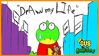 Draw My Life - Gus animated family fun kids pretend playtime cartoon!