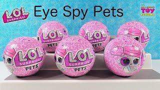 LOL Surprise Pets Eye Spy Series 4 Color Change Bubble Pet Unboxing | PSToyReviews
