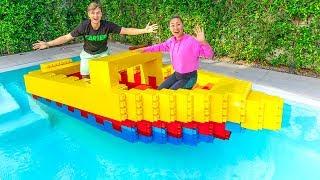 I BUILT A GIANT $10,000 LEGO BOAT!!