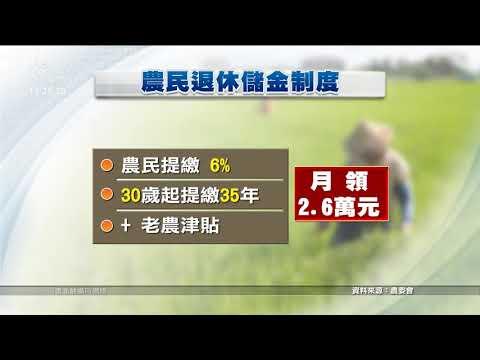 保障農民 立院審「農民退休儲金條例」 20200415 公視中晝新聞