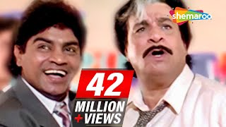 Funniest Movie scenes - Super Hit 90's comedy movie Dulhe Raja - Govinda, Johnny Lever, Kader Khan
