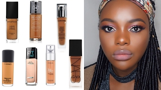BEST Foundations For Dark Skin | Top 6 Liquid Foundations (WOC)