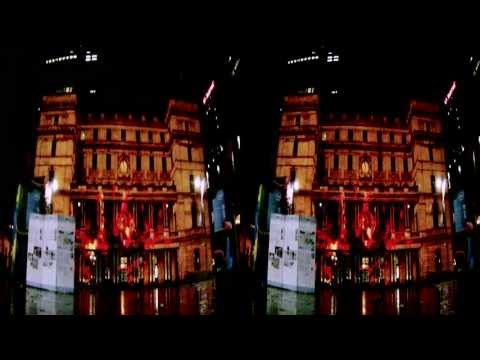 Vivid Sydney in 3D 2011, - Customs House 3D Timelapse Movie