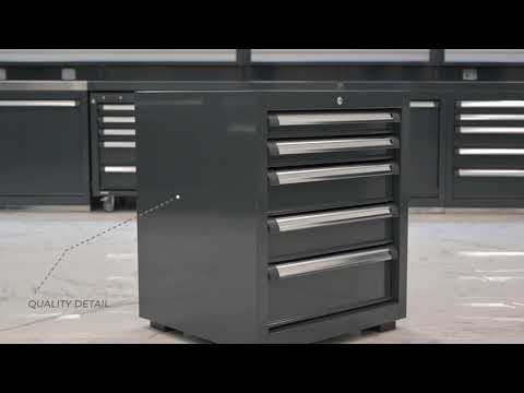 <p>A fixed&nbsp;<strong>drawer unit</strong>&nbsp;with&nbsp;<strong>5 fully-extending drawers</strong>&nbsp;mounted on&nbsp;<strong>DEAmotion&nbsp;</strong>guides (soft closing). Each drawer can sustain up to&nbsp;<strong>30 Kg</strong>&nbsp;while fully open.</p>