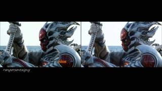 Power Rangers/Shinkenger Samurai Red Ranger vs Deker (PR and Sentai version)