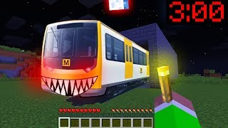 Minecraft PE : DO NOT ENTER THE SCARY METRO TRAIN at 3:00AM