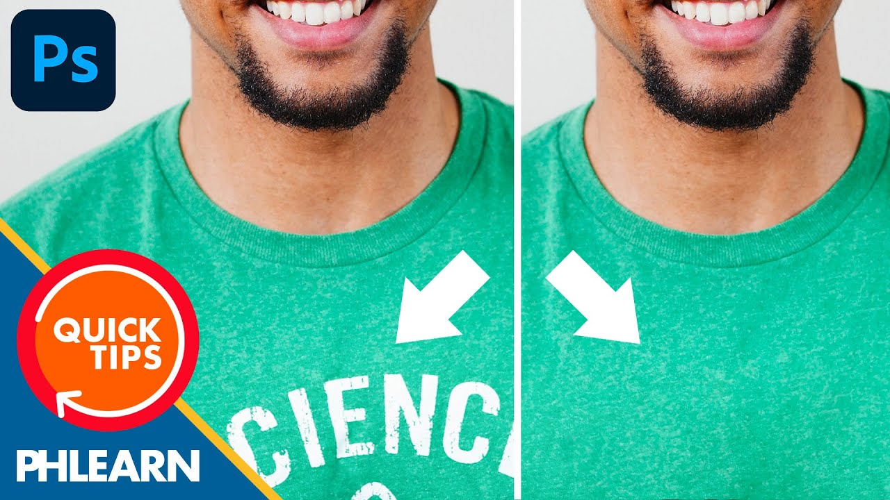 Remove Unwanted Text from an Image in Photoshop