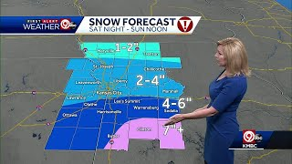 Winter storm to bring snow to KC tonight