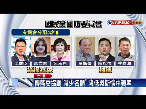 藍委減名額圍堵吳斯懷 綠委酸「何必當初?」-民視新聞