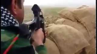 قناص ماهر من البيشمركة يفجر إنتحارياً من داعش قبل وصوله للحاجز