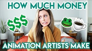 HOW MUCH MONEY ANIMATION ARTISTS MAKE