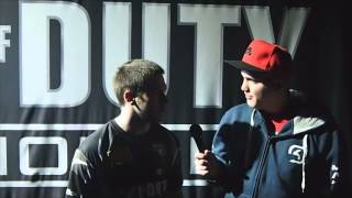 Interview with @coL_Karma from the Call of Duty World Championsh