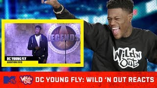 DC Young Fly Reacts To His Wild 'N Out Audition Tape 😂 | Wild 'N Out Reacts | MTV