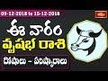 Taurus Weekly Horoscope By Dr Sankaramanchi Ramakrishna Sastry   09 Dec 2018 - 15 Dec 2018