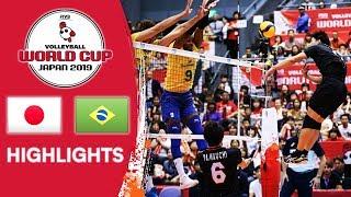 JAPAN vs. BRAZIL - Highlights | Men's Volleyball World Cup 2019