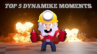 Brawl Stars Top 5 Best Dynamike Moments. 300 IQ Lucky & Funny Moments Compilation/Montage