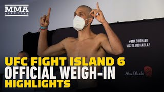 UFC Fight Island 6 Official Weigh-In Highlights - MMA Fighting