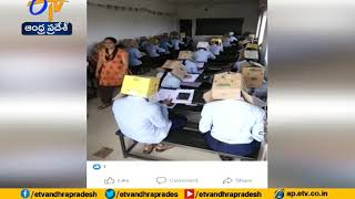 Karnataka College Students Made To Wear Cardboard Boxes Du..