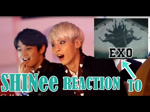 SHINee REACTION TO EXO VCR+ WOLF+ GROWL MMA 2013