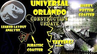 Jurassic Coaster Leaked Layout / Potter Coaster Testing Construction Update Univesal Orlando 1.18.19