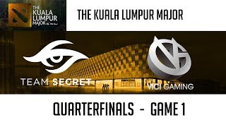 Team Secret vs Vici Gaming (Game 1) | The Kuala Lumpur Major [Quarterfinals]