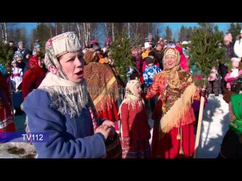 Празднование Масленицы в Малых Корелах под Архангельском