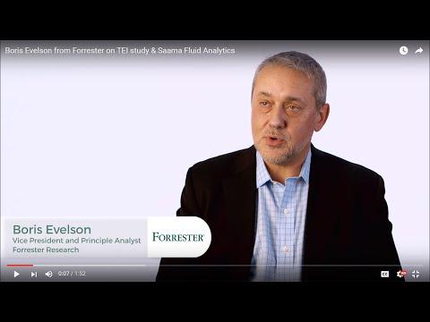 Boris Evelson from Forrester on TEI study & Saama Fluid Analytics