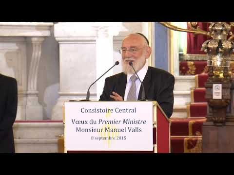 Discours de Michel Gugenheim, Grand Rabbin de Paris