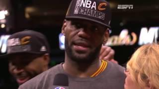 Lebron James receives 2016 NBA Finals MVP.