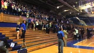 Duke students celebrate Final Four win at Cameron
