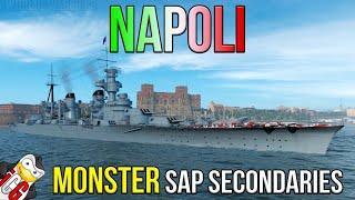 Napoli Review - MONSTER SAP Secondaries - World of Warships