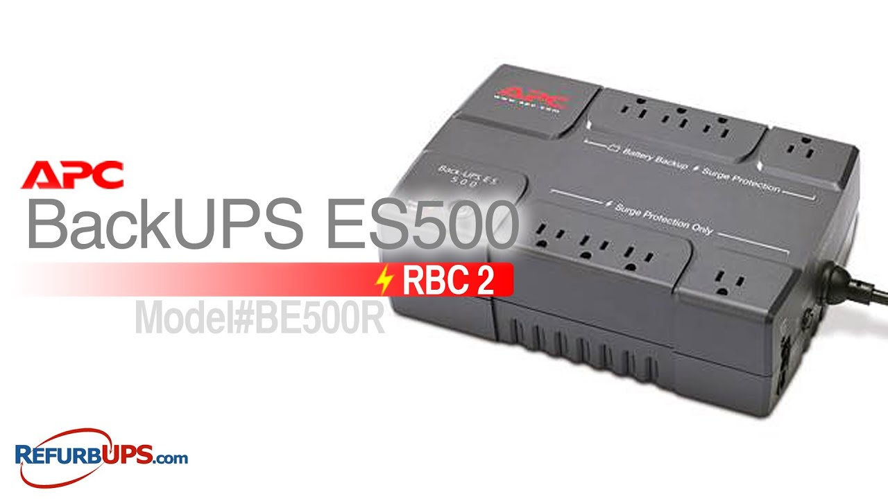 rbc2 battery replacement for apc backups es500 youtube. Black Bedroom Furniture Sets. Home Design Ideas
