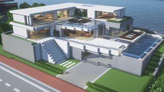 【Minecraft】 Modern House Tutorialㅣ Modern City #16