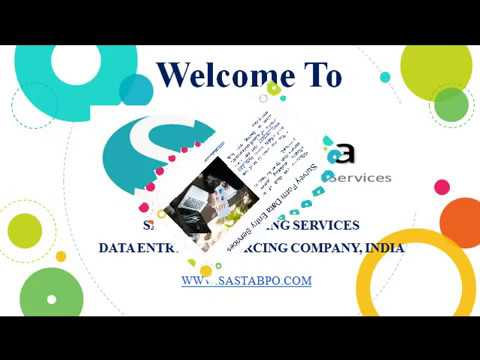 Outsource Survey Form Data Entry Services