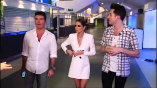 X Factor Judges 2015-Cheryl and Nick scare Rita