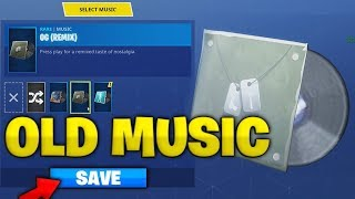 How To Change The Music To The Old Fortnite Song In Season 6