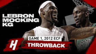 When LeBron James Mocked KG In Front of His Face! Full Highlights vs Celtics | Game 1, 2012 ECF
